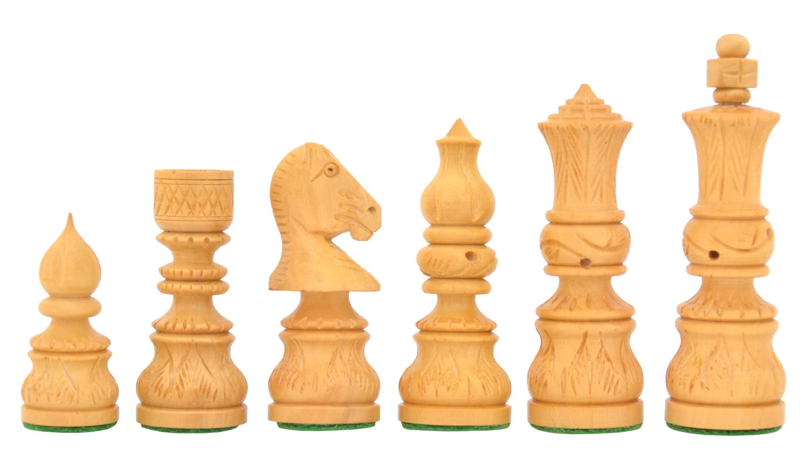 """Moghul Century Indian Handcrafted Chess Pieces in Sheesham/Box Wood-3.74""""-M0015"""