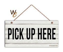 Pick Up Here Sign, Restaurant 5 x 10 Wood Sign, Cashier & Store Sign, Cafe Sign - $12.87
