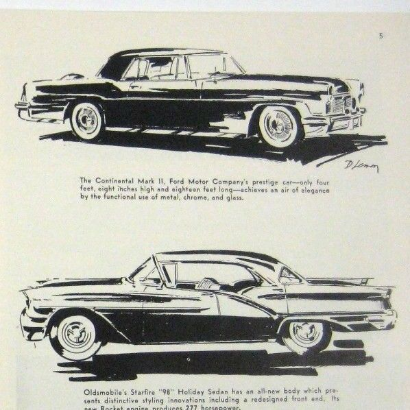 1957 Print 2 Page Ad 42nd National Automobile Show Car