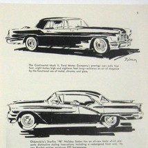 1957 Print 2 Page Ad 42nd National Automobile Show Car Buick Starfire Chrysler - $23.75