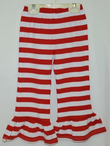 Blanks Boutique Red White Ruffled Pants Cotton Spandex Size 3T