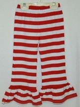 Blanks Boutique Red White Ruffled Pants Cotton Spandex Size 3T image 1