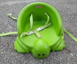 Fisher-Price Table Time Turtle Booster Seat~Toddler High Chair Safety Bu... - $19.30