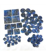 Sewing Craft Button Lot 53 Pieces Blue Silver Floral Square Round Assort... - £17.99 GBP