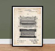 TYPEWRITER VINTAGE TYPE WRITER SHOLES US PATENT PRINT 18X24 POSTER GIFT ... - $24.95