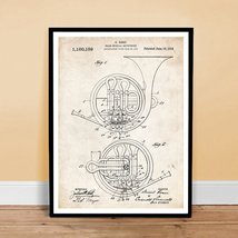 FRENCH HORN INVENTION 1914 US PATENT ART RETRO POSTER PRINT 18X24 BRASS ... - $24.95
