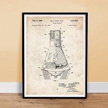 NASA MERCURY SPACE CAPSULE 1966 US PATENT ART POSTER PRINT 18X24 FAGET R... - $24.95