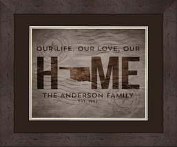 Personalized State of Oklahoma - Family State of Love 15x18 Matted/Frame... - $49.95