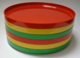 6 Heller Massimo Vignelli Melamine Dinner Plate... - $60.78