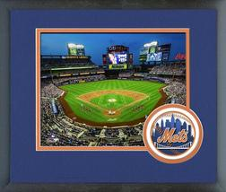 Citi Field - Home of the 2016 New York Mets -11x14 Team Logo Matted/Framed Photo - $43.55