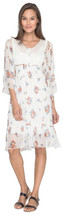 $315 Johnny Was Spring Bouquet Dress + Liner Small 2 4 White Ephemeral B... - $167.81