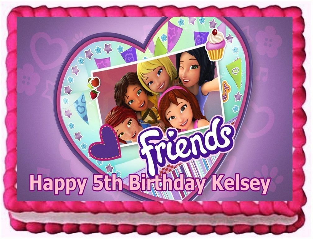 Lego Friends Edible Cake Topper Birthday and similar items