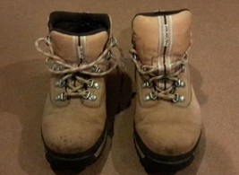 Timberland Ladies Tan/Brown Leather Hiking Boots 5-GUC - $11.00