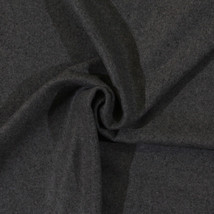 Wool Blend Grey Melton Fabric by the yard D383.08 - $32.95