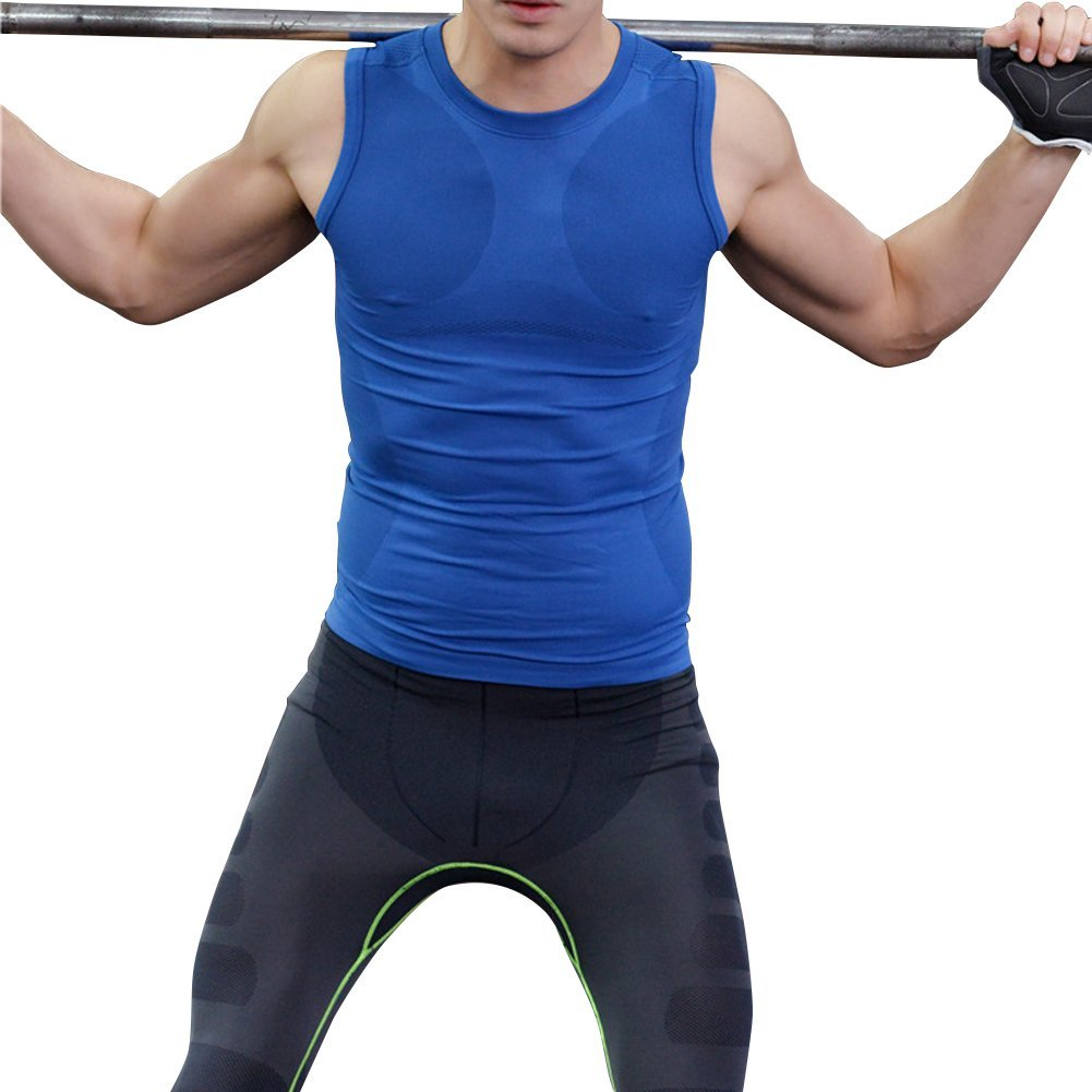 E Support Mens Short Sleeve Breathable Quick Drying Sport T-Shirts Body Shaper for sale  USA