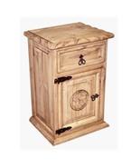 Rustic Rope Star Nightstand Western Cabin Lodge Solid Wood Bedroom Bedsi... - $247.49