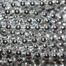 Silver Metallic Beads 4mm Molded on Thread Fused to string 120 inches (10') - $7.97