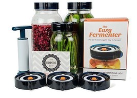 Wide Mouth Lid Mason Jar Fermenting Pickles Foods Jars Cover w/ Pump Set... - $44.99