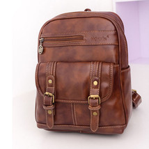 Retro Womens Backpack Leather School Bag Casual Travel Rucksack Shoulder... - $30.07
