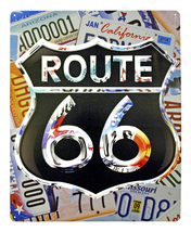 Route 66 License Plate Metal Sign  - $12.99