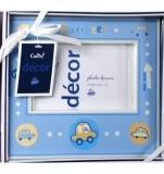 Image 3 of Precious Cudlie Baby Photo Frame, 3x5 Picture, 3 Themes ~ Blue or Yellow