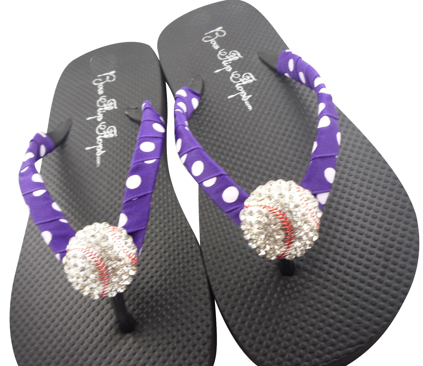 aa843c5fb91465 Purple   White Polka Dot Baseball Flip and 50 similar items