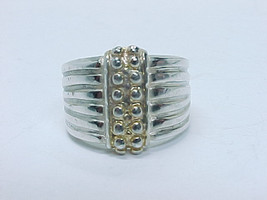 HIGH END Designer ITAOR Italy STERLING SILVER Wide RING - Size 8 - $60.00