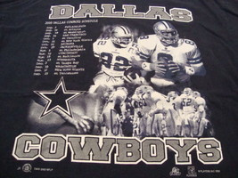 Vintage NFL Dallas Cowboys Football 2000 Sport Attack Apparel Blue T Shi... - $19.65
