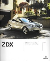 2012 Acura ZDX sales brochure catalog portfolio US 12 Honda - $12.00