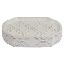 Antiqued Beige Chain link Trellis Ceramic Bath ... - $15.12