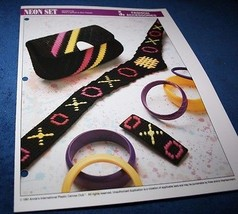 NEON SET  PLASTIC CANVAS PATTERN FROM ANNIE'S - $2.51