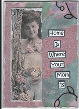ACEO ATC Art Card Original Home Is Where Your M... - $5.00