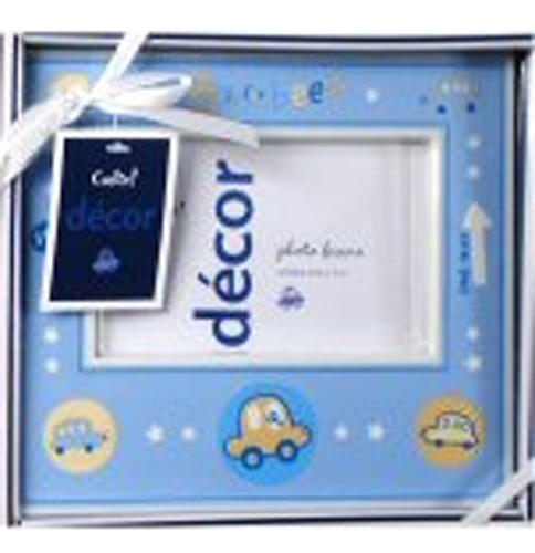 Image 1 of Precious Cudlie Baby Photo Frame, 3x5 Picture, 3 Themes ~ Blue or Yellow