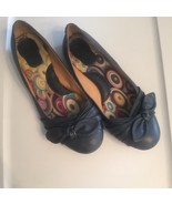Born Dusty Blue Leather Ballet Flats with Bow Detail 8.5 M Slip On Loafers - $21.29