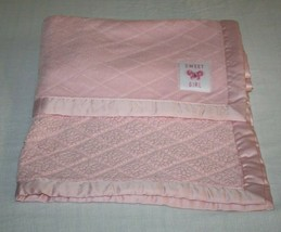 Carters Child Of Mine Sweet Girl Pink Diamond Pattern Baby Blanket SHERP... - $38.67