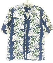 Royal Creations Hawaiian Shirt Men's Sz Large Blue Floral (y1/ep)  - $22.00