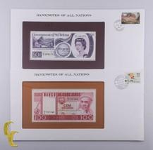 1979 San Helen 50 Pence & 1977 Capo Verde 100 Escudos Banconote di Tutti... - $35.07