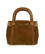 Authentic Gucci Vintage Tan Suede Leather Tote Handbag with Chain Detail - $485.10