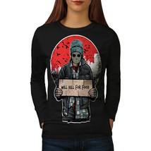 Scary Killer Tee Horror Night Women Long Sleeve T-shirt - $14.99