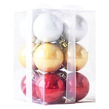 Nankoo 12ct Barrel Plating Multi Color Small Large Size New Year Christm... - $8.85