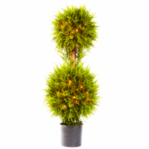 "40"" Cedar Double Ball Topiary W/Lights - $119.31"
