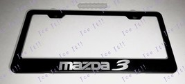 Mazda 3 Stainless Steel Black License Plate Frame Rust Free Caps - $13.37
