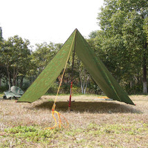 3 Meters Camouflage Camping Trail Tent Hiking PU 5000mm Coating Shelter - $44.72