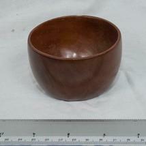 Vintage Caribcraft Carib Craft Mahogany Cup Smll Bowl mjb - $9.89
