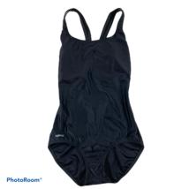 SPEEDO Classic One Piece Racerback Black Swimsuit Womens 10 - $27.99
