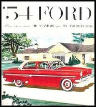 1954 Ford  Brochure Skyliner Sunliner Crestline Custom - $12.53