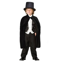 Children's Black Magician Hat and Cape For Childrens Magician Costume - $16.98