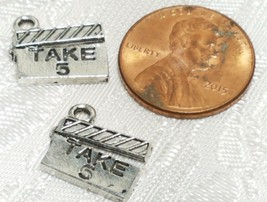 TAKE 5 MOVIE BOARD FINE PEWTER PENDANT CHARM image 2