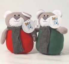 Set of 2 Christmas Mouse Plush Beverly Hills Teddy Bear NWT - $7.69