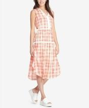 NWT DKNY Women's Modern Boho Sleeveless Knee-Length Midi Dress Size Small  - $36.79